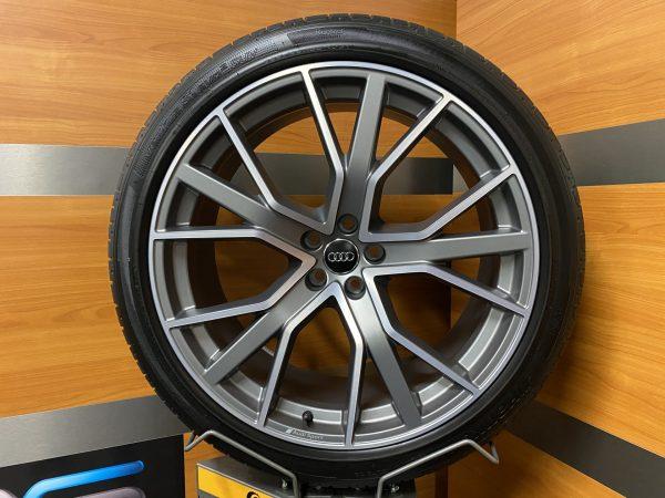 Audi SQ7 4M Q7 15 Speichen Titan Matt PERFORMANCE 22 inch Zomerbanden 4M0601025CP