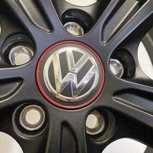 Originele VW naafkapjes VW 5G0 601 171 B LYC GTI (Rode rand)